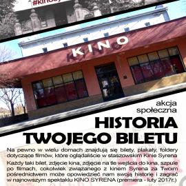 """Spektakl """"Historia jednego biletu"""" staszowskiego kina SYRENA"""