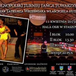 XI Ogólnopolski Turniej Tańca Towarzyskiego w Staszowie 11 kwietnia 2015